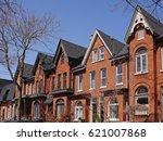 restored victorian houses | Shutterstock . vector #621007868