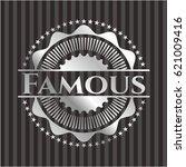 famous silver badge | Shutterstock .eps vector #621009416