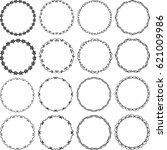 set of decorative borders  ... | Shutterstock .eps vector #621009986