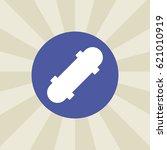skateboard icon. sign design....   Shutterstock .eps vector #621010919