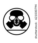 gas mask respirator sign on a... | Shutterstock .eps vector #621030794