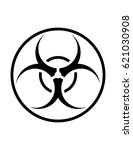 biohazard sign on a white... | Shutterstock .eps vector #621030908
