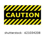caution sign vector eps10. | Shutterstock .eps vector #621034208
