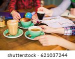 a table with things for... | Shutterstock . vector #621037244