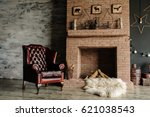 vintage living room  retro... | Shutterstock . vector #621038543
