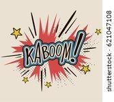 comic sound effect cartoon... | Shutterstock .eps vector #621047108