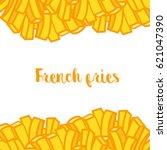 seamless french fries... | Shutterstock .eps vector #621047390