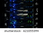 network servers in data room... | Shutterstock . vector #621055394