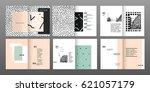 design annual report  cover ... | Shutterstock .eps vector #621057179