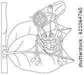 ant black vector illustration... | Shutterstock .eps vector #621064760