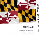 flag of u.s. state maryland... | Shutterstock . vector #621071090