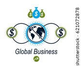global business and e business... | Shutterstock .eps vector #621072878