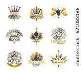 flowers  royal symbols  floral... | Shutterstock .eps vector #621083168