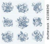 abstract isometrics backgrounds ... | Shutterstock .eps vector #621088340