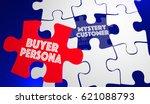 buyer persona puzzle piece... | Shutterstock . vector #621088793