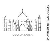 ramadan kareem greeting card | Shutterstock .eps vector #621096158