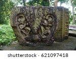 ruins of deoparbat... | Shutterstock . vector #621097418