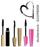 vector illustration of mascara... | Shutterstock .eps vector #621098000