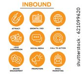 inbound marketing vector icons... | Shutterstock .eps vector #621099620