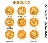 inbound marketing vector icons... | Shutterstock .eps vector #621099620