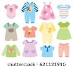 vector illustration of baby and ... | Shutterstock .eps vector #621121910