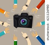 camera review technology device ... | Shutterstock .eps vector #621126980