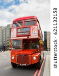 Small photo of LONDON - JUNE 26 2016: London The London Bus is one of London's principal icons, the archetypal red rear-entrance AEC Routemaster being recognized worldwide.