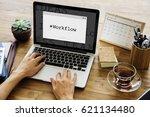 workflow hasgtag window graphic ... | Shutterstock . vector #621134480