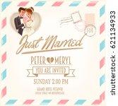wedding card   Shutterstock .eps vector #621134933
