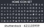 home icon set | Shutterstock .eps vector #621135959