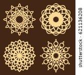 diy laser cutting patterns.... | Shutterstock .eps vector #621136208