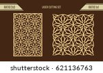 diy laser cutting set. woodcut... | Shutterstock .eps vector #621136763