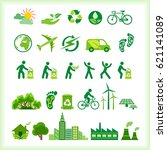 silhouette icons and symbols of ... | Shutterstock .eps vector #621141089