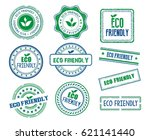 set of various eco friendly... | Shutterstock .eps vector #621141440