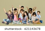 group of happiness little... | Shutterstock . vector #621143678