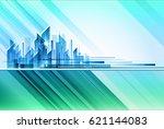 modern night city skyline   Shutterstock . vector #621144083