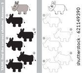 rhino with different shadows to ... | Shutterstock .eps vector #621149390