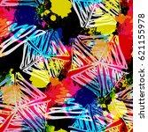 seamless pattern childish... | Shutterstock . vector #621155978