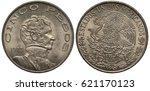 Mexico Mexican Coin 5 Five...