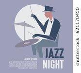jazz night | Shutterstock .eps vector #621170450