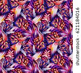 abstract seamless pattern with... | Shutterstock . vector #621184016