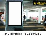 blank advertising billboard at... | Shutterstock . vector #621184250
