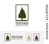 tree  grunge  vector logo... | Shutterstock .eps vector #621185006