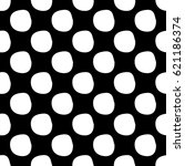 abstract spot pattern with hand ... | Shutterstock . vector #621186374