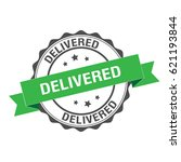 delivered stamp illustration | Shutterstock .eps vector #621193844