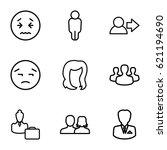 avatar icons set. set of 9...   Shutterstock .eps vector #621194690