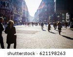 crowd of anonymous people...   Shutterstock . vector #621198263