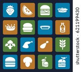 nutrition icons set. set of 16... | Shutterstock .eps vector #621199430