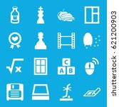 square icons set. set of 16... | Shutterstock .eps vector #621200903