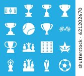 championship icons set. set of... | Shutterstock .eps vector #621202670